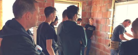 Werfbezoek leerlingen Houtbewerking van het Guldensporencollege Kortrijk
